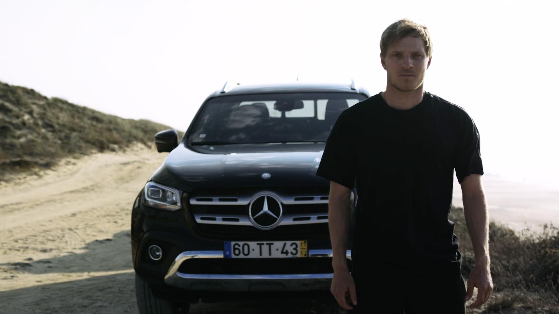 Mercedes-Benz, x-class, commercial, production, yolo films, Portugal, Nazaré, films production service, local crew, international commercial production